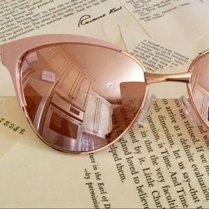 Free People Sunglass Pink Frames Amber Mirror Len